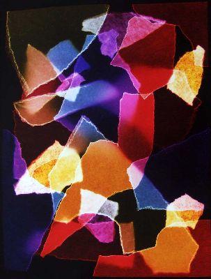 Szinkeveres pausszal 1 2007 szines fotogram 106 x 76 cm