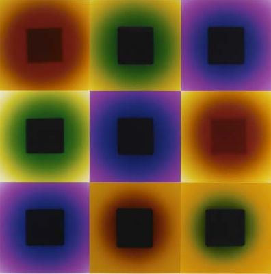2006 color photograms 100 x 100 cm