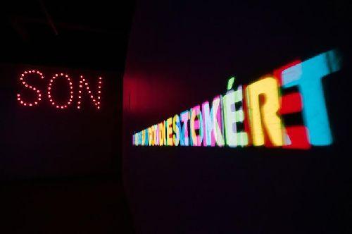Rovid ima Small Prayer interaktiv installacio ket vetitovel interactive installation with two projectors